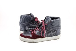 Balenciaga * Burgundy/Navy Blue High Top Sneakers Shoes