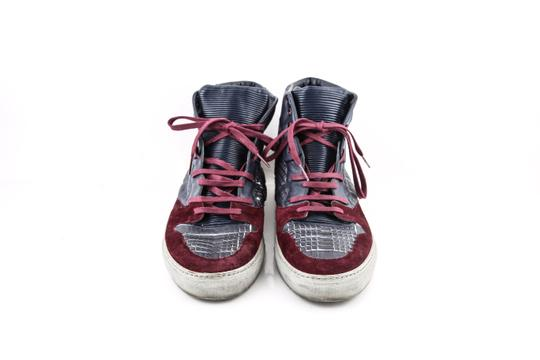 Balenciaga * Burgundy/Navy Blue High Top Sneakers Shoes Image 1
