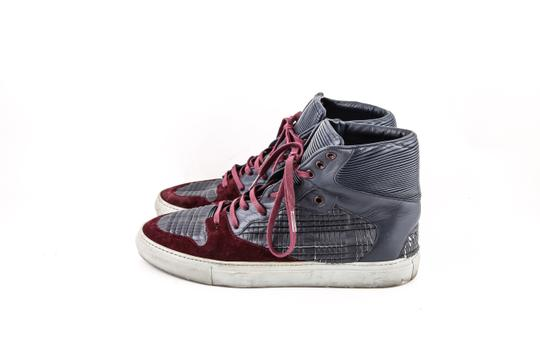 Balenciaga * Burgundy/Navy Blue High Top Sneakers Shoes Image 2
