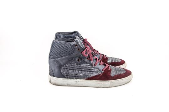 Balenciaga * Burgundy/Navy Blue High Top Sneakers Shoes Image 3