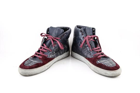 Balenciaga * Burgundy/Navy Blue High Top Sneakers Shoes Image 5