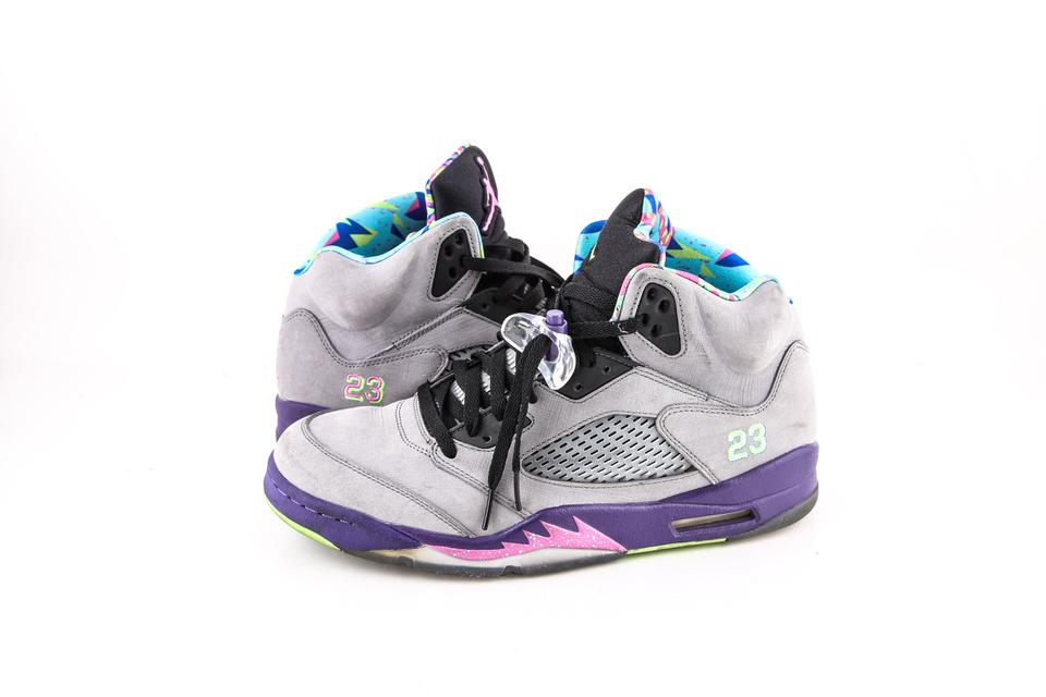 promo code b22cf aaf4c Nike * Grey/Purple Air Jordan Retro 5 V Shoes
