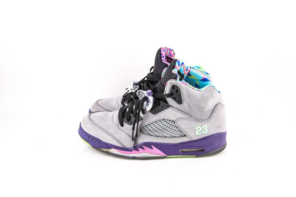 Nike   Grey/Purple Air Jordan Retro 5 V Shoes