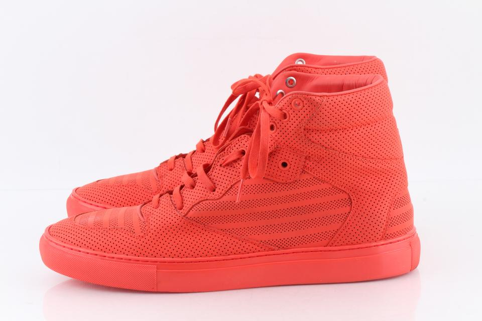 440c8c949 Balenciaga Orange Pleated High-top Sneakers Shoes - Tradesy