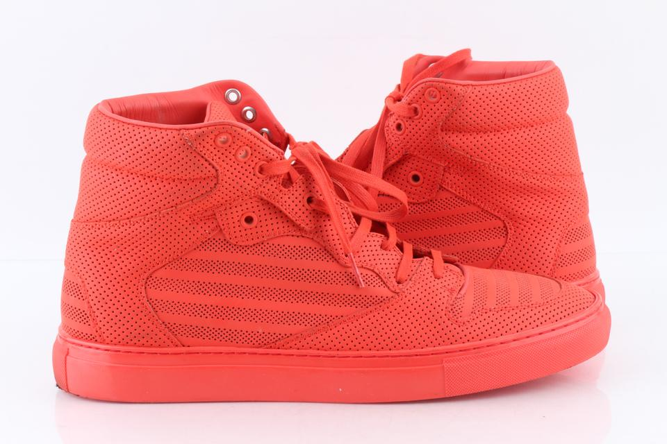 4d3703c63 Balenciaga Orange Pleated High-top Sneakers Shoes Image 11. 123456789101112