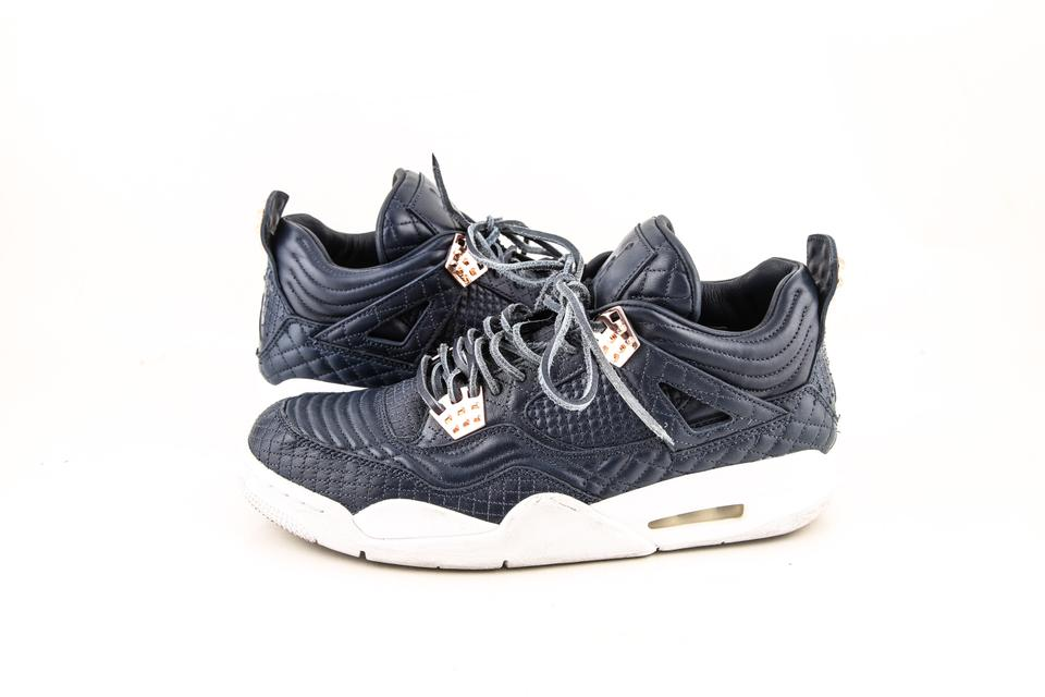 9de6dab90b1dbd Nike   Obsidian White Air Jordan 4 Retro Premium Shoes Image 0 ...