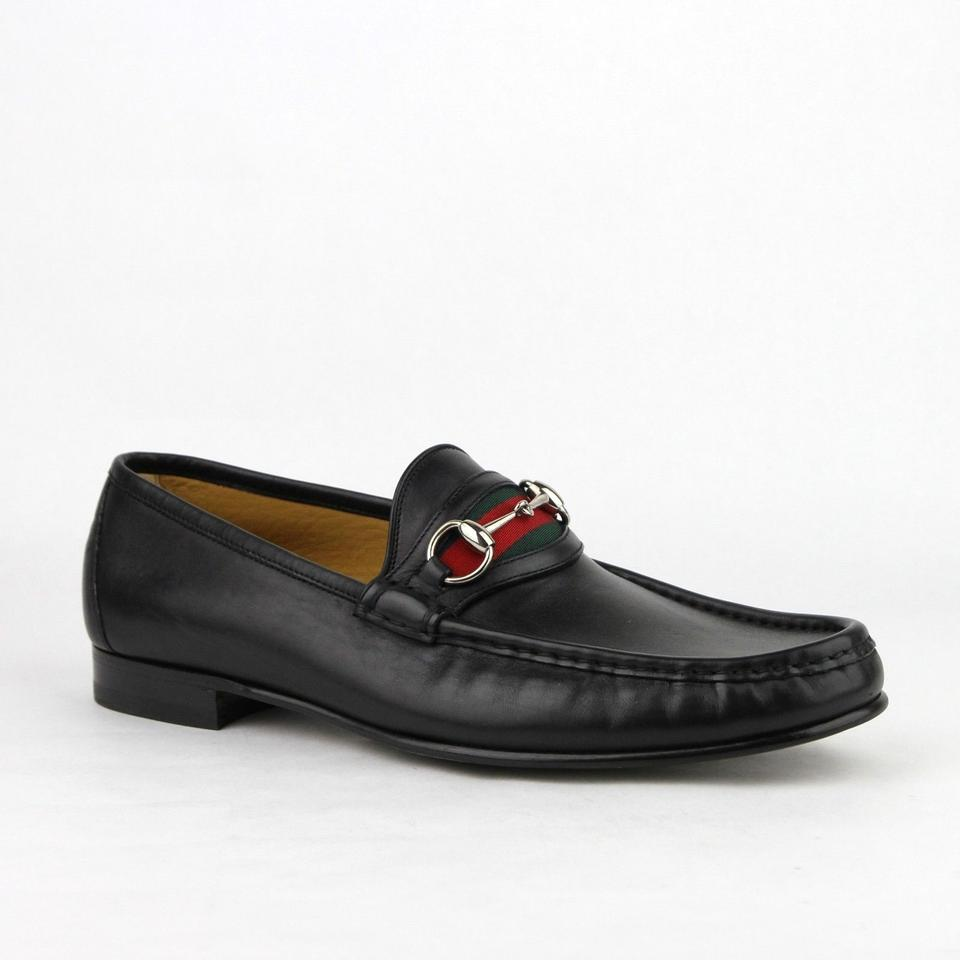 d2ef570fd6d Gucci Black Horsebit Loafer W Silver and Grg Web 14 Us 14.5 157440 1060 ...