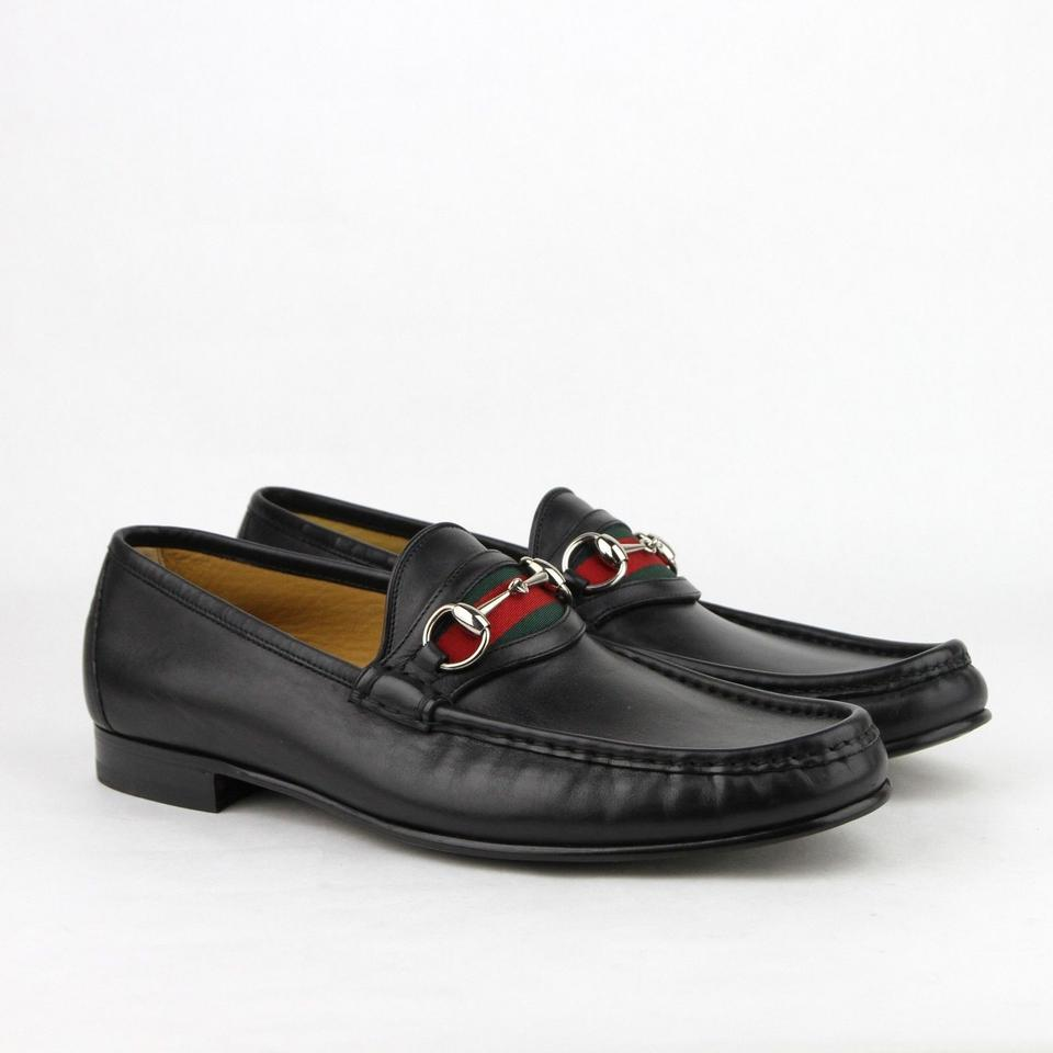 9be0873b54d Gucci Black Horsebit Loafer W Silver and Grg Web 14 Us 14.5 157440 1060  Shoes - Tradesy