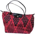 Longchamp Geometric Pattern Tote Neoprene / Satchel in Red / Black Image 0