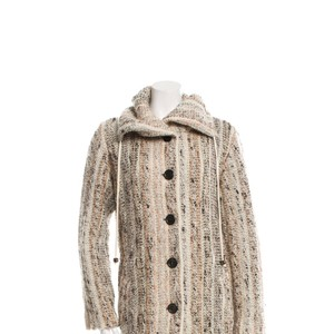 Missoni Mohair Wool Designer Ships Next Day Pattern Prints, Neutral Blazer