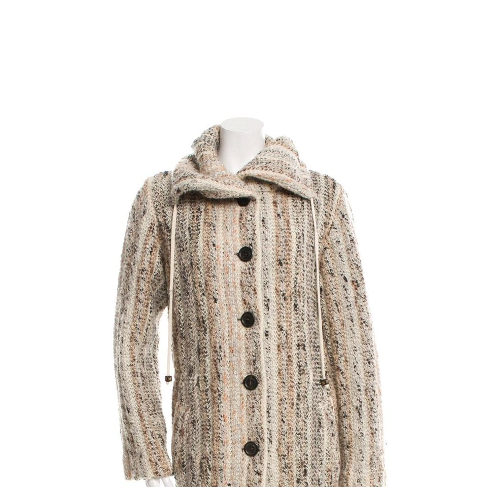 Missoni Pattern Prints Neutral Wool Knit Coat Blazer. Size  8 (M) ... 88aa5c846