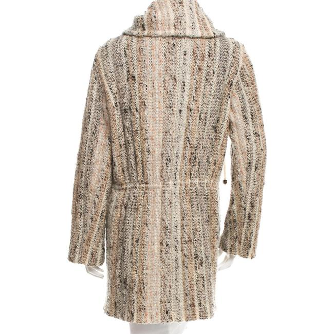 Missoni Mohair Wool Designer Ships Next Day Pattern Prints, Neutral Blazer Image 3