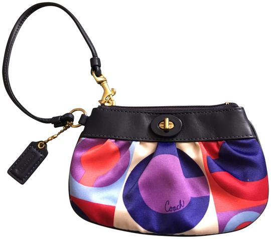 Preload https://img-static.tradesy.com/item/23181447/coach-resort-op-and-multicolored-satin-with-leather-trim-wristlet-0-1-540-540.jpg