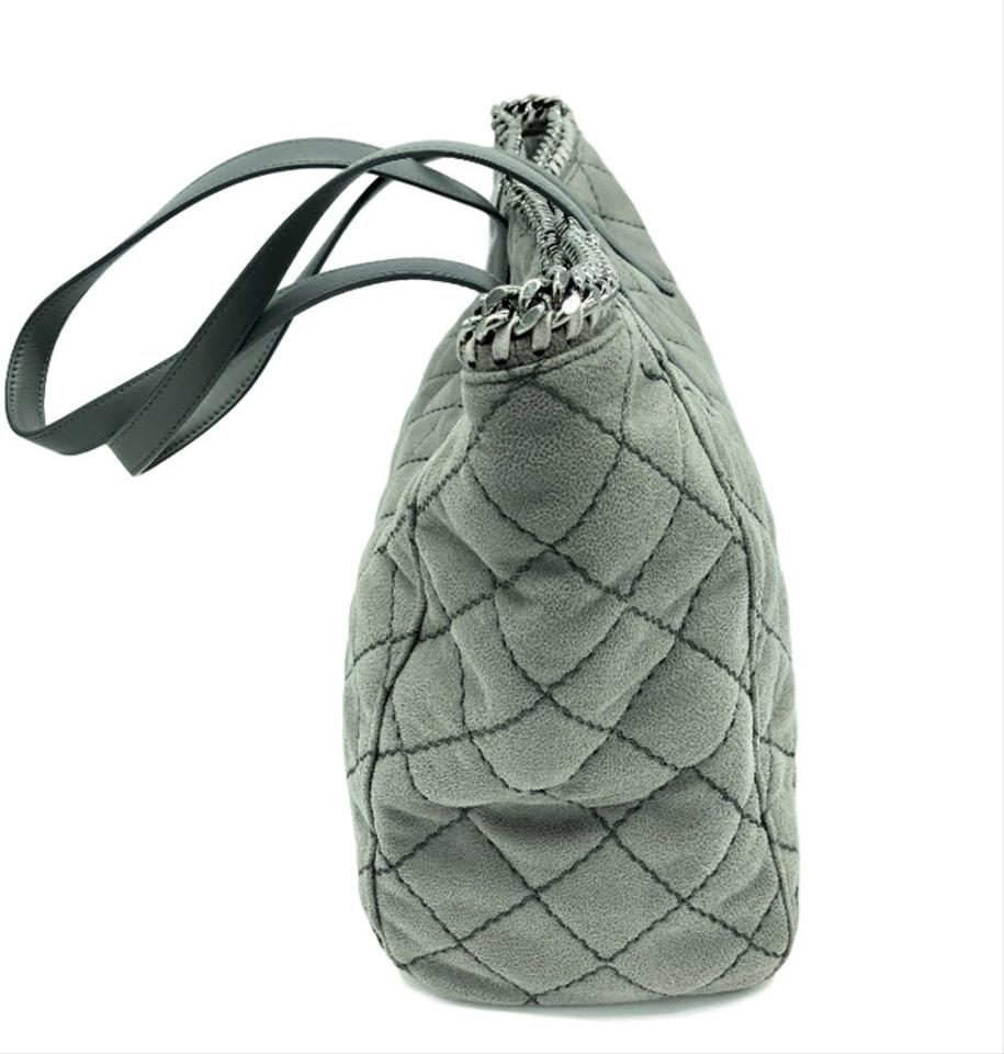 Faux East Leather New McCartney Grey West Tote Falabella Stella USgFt
