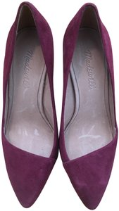 Madewell Suede Leather Plum Wine Pumps