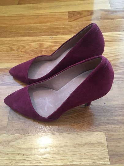 Madewell Suede Leather Plum Wine Pumps Image 1