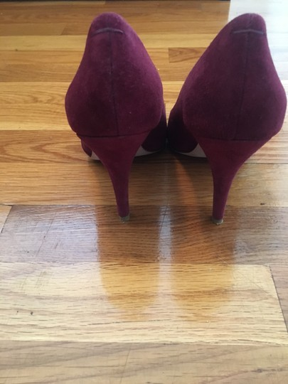 Madewell Suede Leather Plum Wine Pumps Image 2