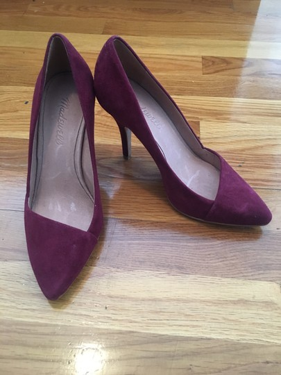 Madewell Suede Leather Plum Wine Pumps Image 3