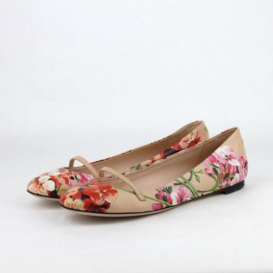 Gucci Women's Leather Ballet Pink Flats Image 1