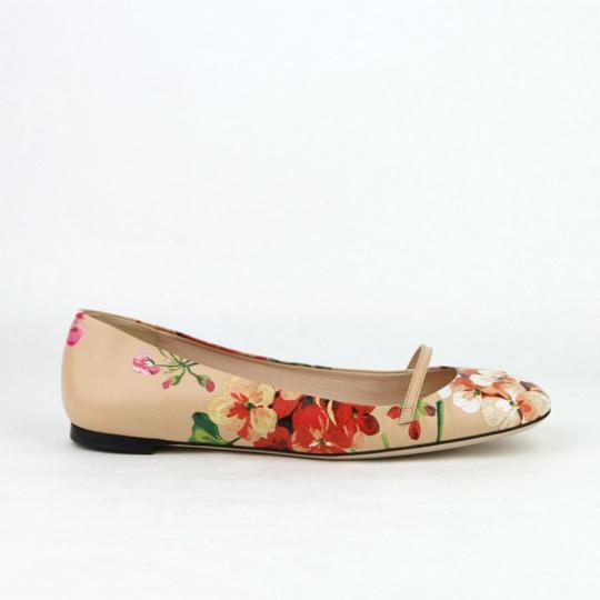 Gucci Women's Leather Ballet Pink Flats Image 5
