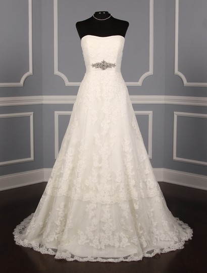 Preload https://img-static.tradesy.com/item/23181633/pronovias-diamond-white-off-white-lace-and-dotted-swiss-tulle-udine-formal-wedding-dress-size-10-m-0-0-540-540.jpg
