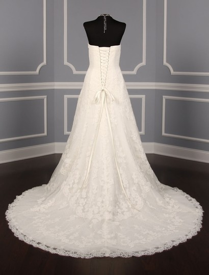 Pronovias Diamond White (Off White) Lace and Dotted Swiss Tulle Udine Formal Wedding Dress Size 10 (M) Image 5