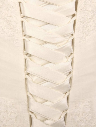 Pronovias Diamond White (Off White) Lace and Dotted Swiss Tulle Udine Formal Wedding Dress Size 10 (M) Image 7