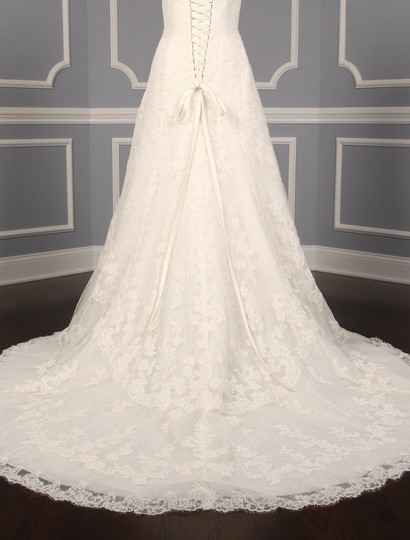 Pronovias Diamond White (Off White) Lace and Dotted Swiss Tulle Udine Formal Wedding Dress Size 10 (M) Image 9