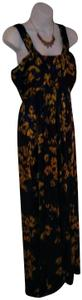 Plum, Blue and Gold Maxi Dress by Gianni Bini