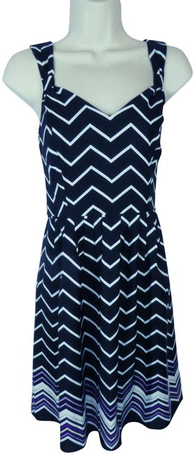 Preload https://img-static.tradesy.com/item/23181732/ann-taylor-black-new-white-purple-pleat-short-casual-dress-size-4-s-0-1-650-650.jpg