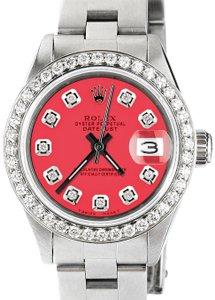 Rolex Datejust Ladies 26mm Steel Oyster Raspberry Punch Dial/Diamond Bezel