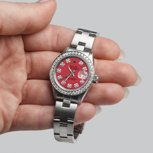 Rolex Datejust Ladies 26mm Steel Oyster Raspberry Punch Dial/Diamond Bezel Image 5