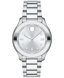 Movado Stainless Bracelet Silver Dial Bold 3600415 Watch