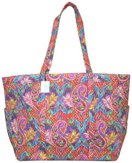 Preload https://img-static.tradesy.com/item/23181897/vera-bradley-get-carried-away-in-paisley-in-paradise-multicolor-cotton-tote-0-1-540-540.jpg