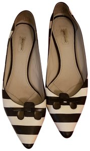 Marc Jacobs Black and white striped Flats