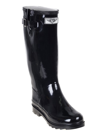 Forever Young Rainboots Rain Wellies Garden Black Boots Image 1