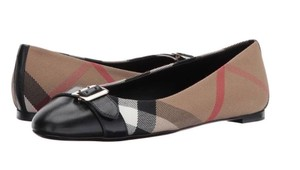 Burberry Avonwick House Check Black Flats