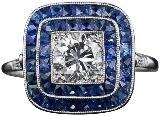 Preload https://img-static.tradesy.com/item/23182160/blue-and-silver-new-vintage-style-statement-ring-0-1-540-540.jpg