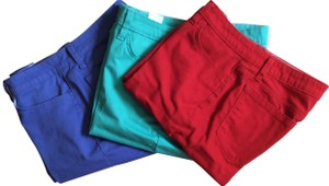 "Lee Riders Inseam 11"" Bermuda Shorts red, teal and lavender"