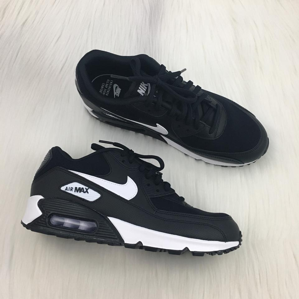 cheap for discount c9c84 0832b Nike Women s Air Max 90 Black + White Sneakers. Leather and Mesh ...