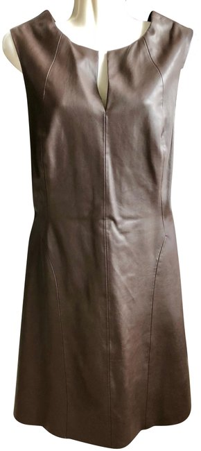 Item - Deep Brown Basic A Line Short Night Out Dress Size 12 (L)