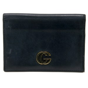 Gucci Vintage GG Marmont Calfskin Leather Fold Over Card Case