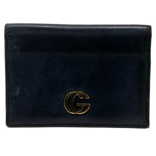 Gucci Vintage GG Marmont Calfskin Leather Fold Over Card Case Image 1