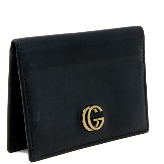 Gucci Vintage GG Marmont Calfskin Leather Fold Over Card Case Image 2