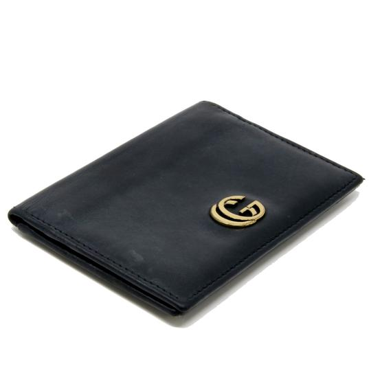 Gucci Vintage GG Marmont Calfskin Leather Fold Over Card Case Image 3