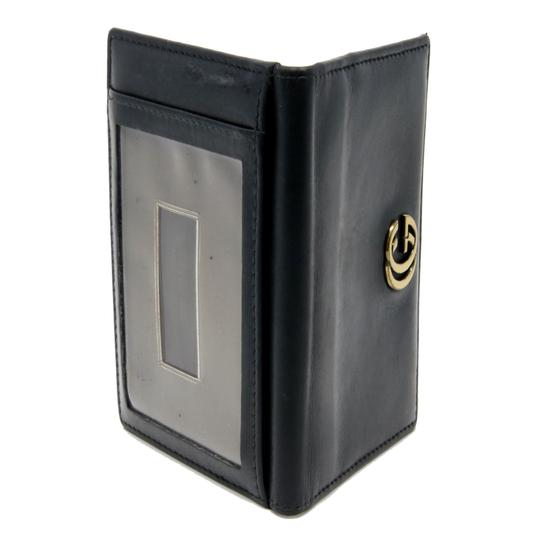 Gucci Vintage GG Marmont Calfskin Leather Fold Over Card Case Image 7