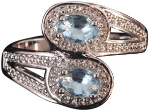 Other New Light Blue and White Gold Filled Ring