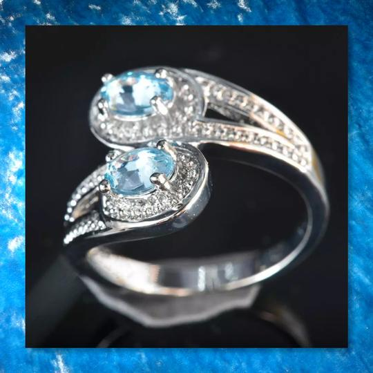 Other New Light Blue and White Gold Filled Ring Image 1