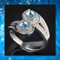 Other New Light Blue and White Gold Filled Ring Image 2