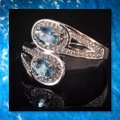Other New Light Blue and White Gold Filled Ring Image 3